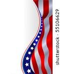 an american flag vertical... | Shutterstock .eps vector #55106629