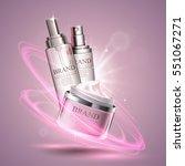 cosmetics template poster | Shutterstock .eps vector #551067271