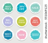colorful vector paper circle ... | Shutterstock .eps vector #551069125