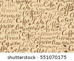 seamless background with words... | Shutterstock .eps vector #551070175