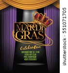 mardi gras background with... | Shutterstock .eps vector #551071705