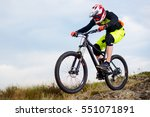 professional cyclist riding the ... | Shutterstock . vector #551071891