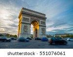 triumphal arch. paris. france.... | Shutterstock . vector #551076061