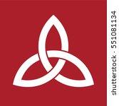 celtic trinity knot symbol | Shutterstock .eps vector #551081134