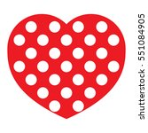 icon heart  vector isolated... | Shutterstock .eps vector #551084905