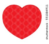 icon heart  vector isolated... | Shutterstock .eps vector #551084911