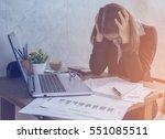 stress at work   | Shutterstock . vector #551085511