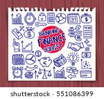 doodle finance  banking and... | Shutterstock .eps vector #551086399