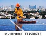 engineering solar power...   Shutterstock . vector #551088367