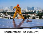 engineering solar power... | Shutterstock . vector #551088394