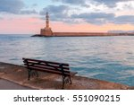 Lighthouse In Chania. Greece.