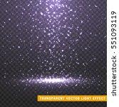 glowing glitter light effects... | Shutterstock .eps vector #551093119