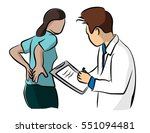 the doctor check the backache... | Shutterstock .eps vector #551094481