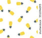 seamless doodle fruit... | Shutterstock .eps vector #551096095