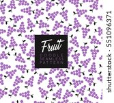 seamless doodle fruit... | Shutterstock .eps vector #551096371