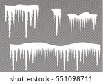 set of snow icicles isolated on ... | Shutterstock .eps vector #551098711