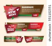 food promotion banner   Shutterstock .eps vector #551102551
