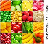 healthy life  eating and health ... | Shutterstock . vector #551104351