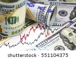 stock market charts . two... | Shutterstock . vector #551104375