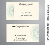invitation  business card or... | Shutterstock .eps vector #551112139