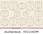 big vector set of vintage... | Shutterstock .eps vector #551114299