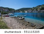 stomorska is a cove situated on ... | Shutterstock . vector #551115205