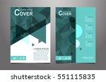 green vector annual report... | Shutterstock .eps vector #551115835