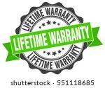 lifetime warranty. stamp....   Shutterstock .eps vector #551118685