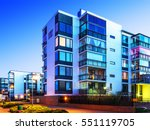 house building and city... | Shutterstock . vector #551119705