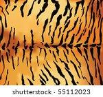 tiger skin texture. | Shutterstock .eps vector #55112023