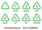 plastic recycling symbol .... | Shutterstock .eps vector #551120839