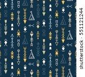 vector tribal seamless pattern... | Shutterstock .eps vector #551121244