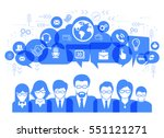 social network talk and speech... | Shutterstock .eps vector #551121271