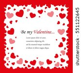 postcards valentine's day... | Shutterstock .eps vector #551122645