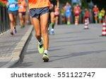 runner during race walking in...   Shutterstock . vector #551122747