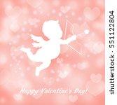 valentine background with pink... | Shutterstock .eps vector #551122804