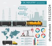 vector oil rig industry... | Shutterstock .eps vector #551123224