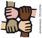 hands joined | Shutterstock .eps vector #55112356