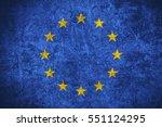 flag of european union or... | Shutterstock . vector #551124295