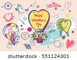 set of image balloon for happy... | Shutterstock .eps vector #551124301