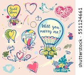 set of image balloon for... | Shutterstock .eps vector #551124661