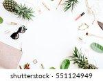 summer street style. frame of... | Shutterstock . vector #551124949