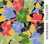 hawaiian tropical natural...   Shutterstock .eps vector #551127559