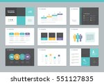page layout design template for ... | Shutterstock .eps vector #551127835