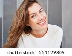 close up portrait of beautiful... | Shutterstock . vector #551129809