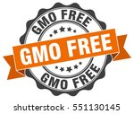 gmo free. stamp. sticker. seal. ...