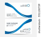 business card vector background | Shutterstock .eps vector #551130739