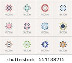 geometric logo template set.... | Shutterstock .eps vector #551138215