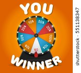 color lucky wheel template.... | Shutterstock .eps vector #551138347