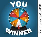 color lucky wheel template.... | Shutterstock .eps vector #551138401